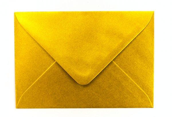 Gutschein Umschlag gold